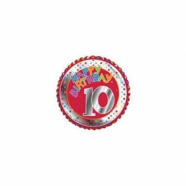 10 jaar helium ballon verjaardag