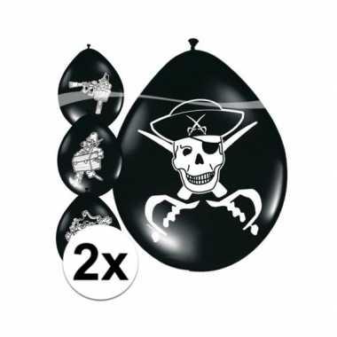 16x Piraten Ballonnen Verjaardag Ballonnen Nl