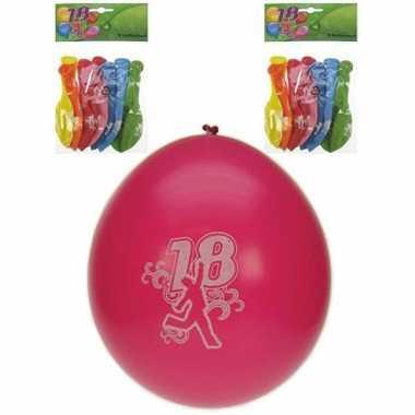 18 Jaar feest ballonnen 8 stuks