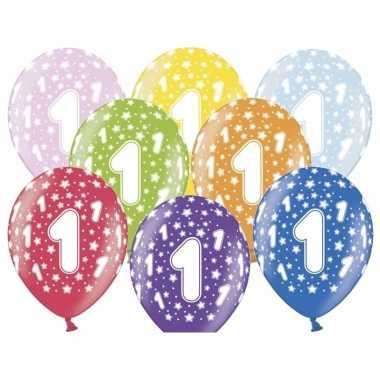 1e verjaardag ballonnen met sterretjes