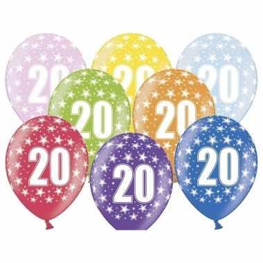 20e verjaardag ballonnen met sterretjes