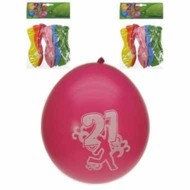 21 jaar feest ballonnen 8 stuks