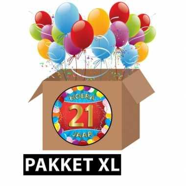 21 jarige feestversiering pakket XL