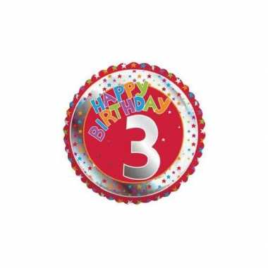 3 jaar helium ballon verjaardag