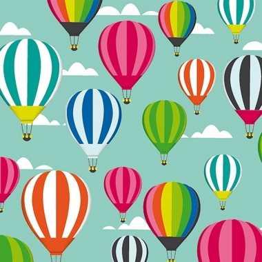 3x geschenkpapier luchtballonnen thema 70 x 200 cm