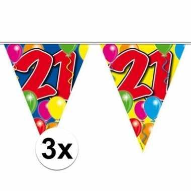 3x vlaglijn 21 jaar 10 meter