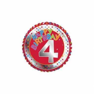 4 jaar helium ballon verjaardag