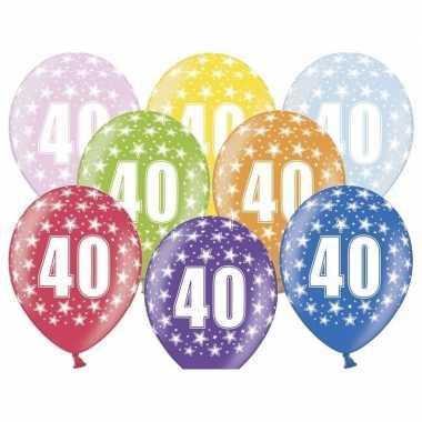 40e verjaardag ballonnen met sterretjes