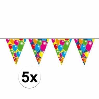 5x ballonnen thema slingers 10 meter