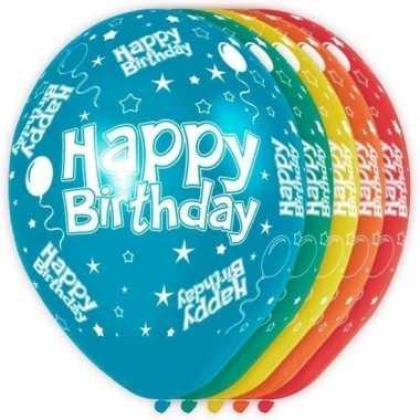 5x verjaardag heliumballonnen 30 cm