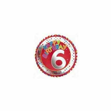 6 jaar helium ballon verjaardag