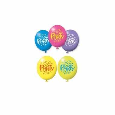 6x stuks verjaardag party ballonnen