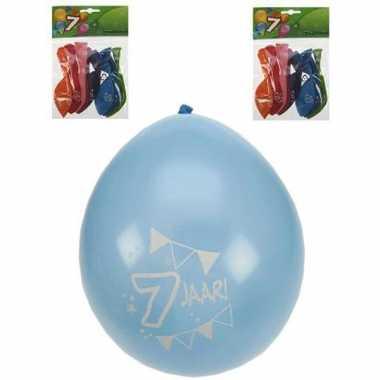 7 jaar party/verjaardag ballonnen