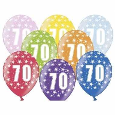 70e verjaardag ballonnen met sterretjes