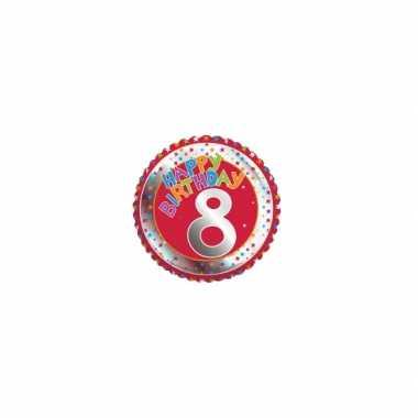 8 jaar helium ballon verjaardag