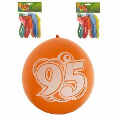 8 stuks feest ballonnen 95 jaar