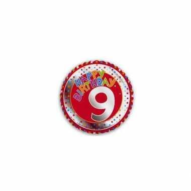 9 jaar helium ballon verjaardag