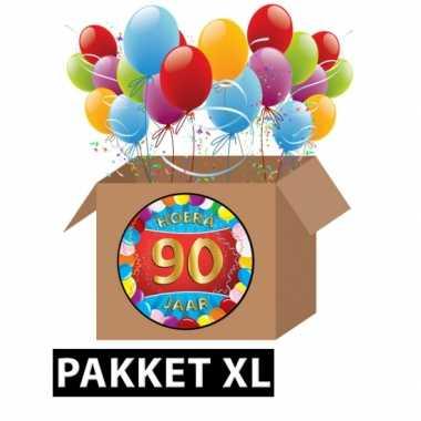 90 jarige feestversiering pakket XL