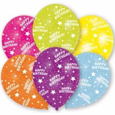 Feestversiering ballonnen 6 stuks