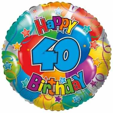Folie ballon 40 jaar 35 cm