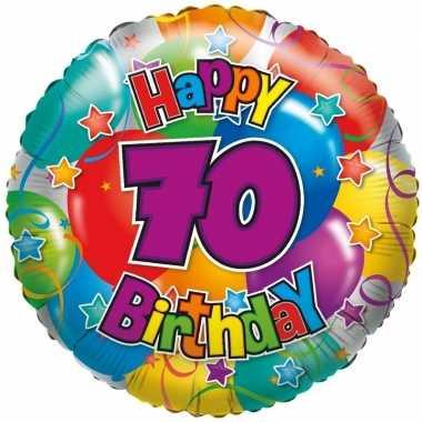 Bekend Folie ballon 70 jaar 45 cm | Verjaardag-ballonnen.nl @RW-95