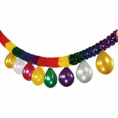 Kleurenslinger met ballonnen