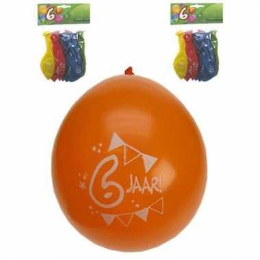 Voordelige feest ballonnen 6 jaar