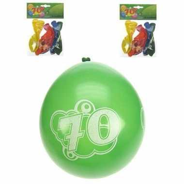 Voordelige feest ballonnen 70 jaar
