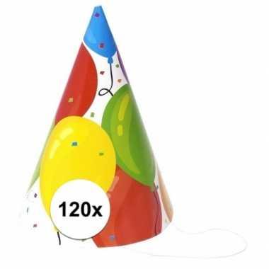 Voordelige hoedjes ballon 120 stuks