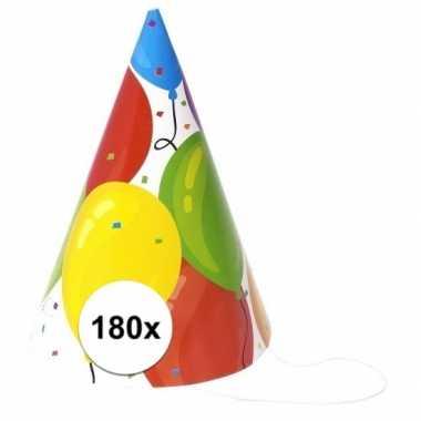 Voordelige hoedjes ballon 180 stuks