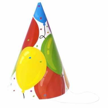 Voordelige hoedjes ballon 6 stuks