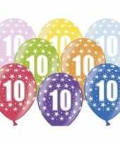 10e verjaardag ballonnen met sterretjes