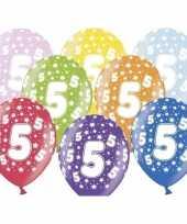 12x ballonnen 5 jaar leeftijd feestartikelen