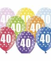 12x stuks 40e verjaardag ballonnen met sterretjes