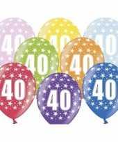 18x stuks 40e verjaardag ballonnen met sterretjes