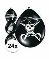 24x piraten ballonnen