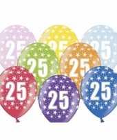 25e verjaardag ballonnen met sterretjes