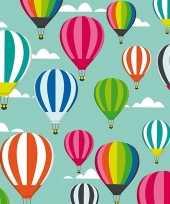 2x geschenkpapier luchtballonnen thema 70 x 200 cm