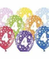 4e verjaardag ballonnen met sterretjes