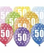 50e verjaardag ballonnen met sterretjes