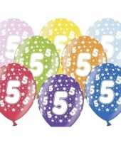 5e verjaardag ballonnen met sterretjes