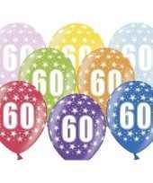 60e verjaardag ballonnen met sterretjes