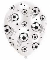 6x stuks voetbal thema ballonnen