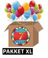 7 jarige feestversiering pakket xl