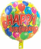 Folie ballon gefeliciteerd happy birthday ballonnen 45 cm met helium gevuld