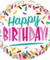 Folie ballon happy birthday 45 cm 10099756