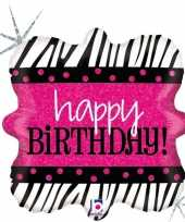 Folie ballon happy birthday verjaardag 46 cm met helium gevuld 10197946