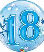 Folie helium ballon 18 jaar blauw 55 cm