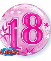 Folie helium ballon 18 jaar roze 55 cm