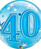 Folie helium ballon 40 jaar blauw 55 cm